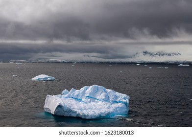 Iceberg and floating ice near Cuverville Island, Antarctic Peninsula