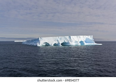 Iceberg floating in the sea