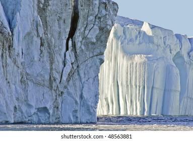 Iceberg from Ilulissat glacier in Greenland.