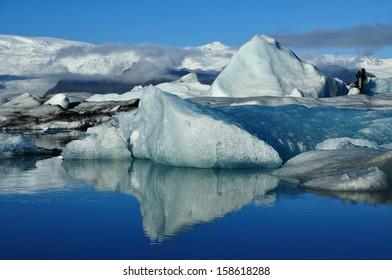 Iceberg at Jokulsarlon Lagoon Iceland