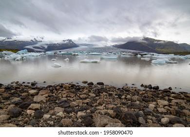 Fjallsárlón Iceberg Lagoon, Iceland at noon