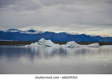 iceberg lagoon on iceland