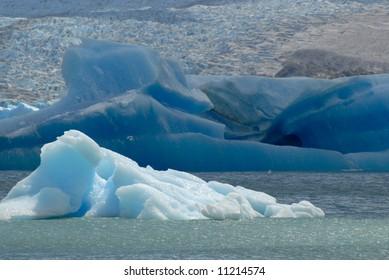 Iceberg in lake Argentino near Upsala glacier. Patagonia, Agrentina.