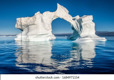 Iceberg in the ocean. Disko Bay, Western Greenland.