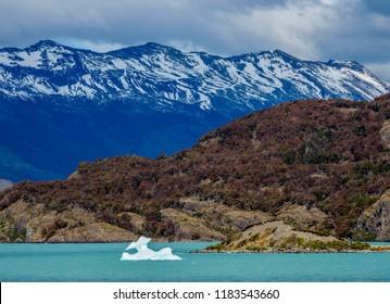 Iceberg on Lake Argentino, Los Glaciares National Park, Santa Cruz Province, Patagonia, Argentina