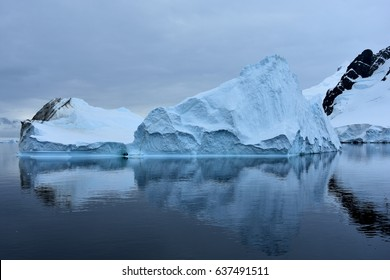 Iceberg with reflection in Antarctica
