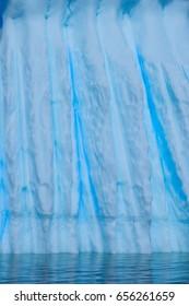 Iceberg with rills in Antarctica
