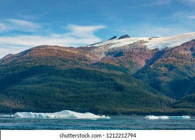 Iceberg from Sawyer glacier in Tracy Arm fjord near Juneau Alaska