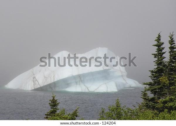 Iceberg at St Anthony Bight. New foundland Labrador on the Viking trail.