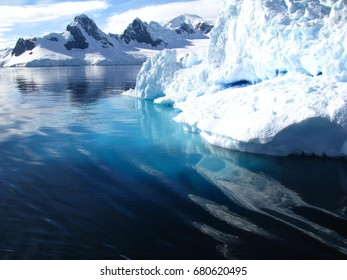 Iceberg under water, Antarctica