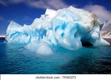 iceberg worn away by the sea
