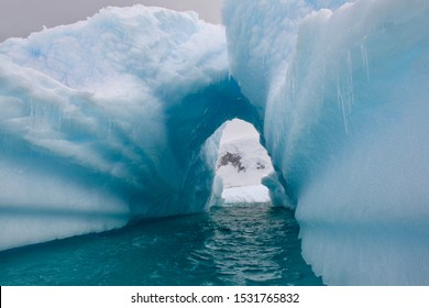 Icebergs floating in Antarctica waters