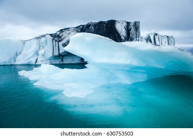 icebergs floating.  Ices and icebergs. Glacier