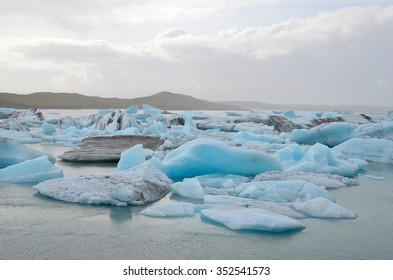 Icebergs at Jokulsarlon Glacial Lagoon in Iceland