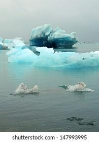 icebergs at jokulsarlon, iceland
