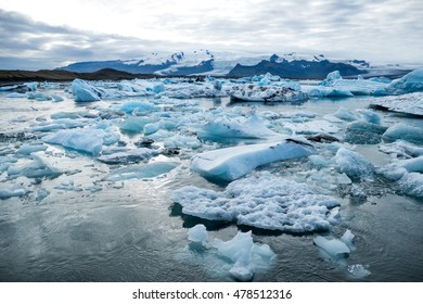 Icebergs in the lake in Iceland