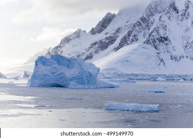 Icebergs at Lemaire Channel,  Western Antarctic Peninsula