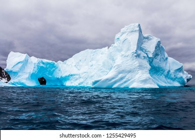 The icebergs and mountains in Antarctica the white continent