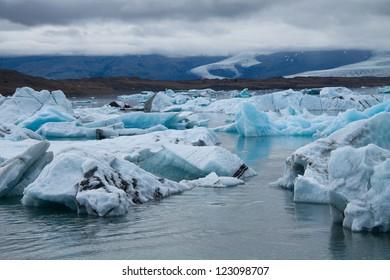 Icebergs on Jokulsarlon glacier lagoon, Iceland