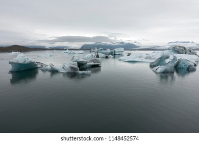Icebergs on the Jokulsarlon glacier lake, Iceland