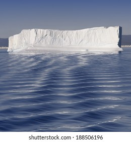 Icebergs of polar regions. Research of effect of global warming on a scientific vessel.