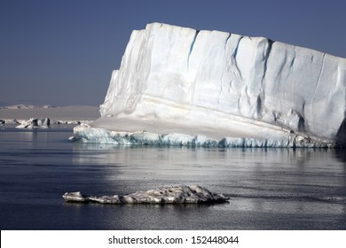 Icebergs in the Weddell Sea off the coast of the Antarctic Peninsula - Antarctica.