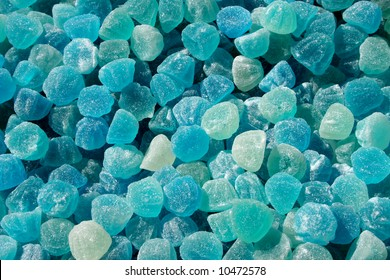 Ice-blue sweets