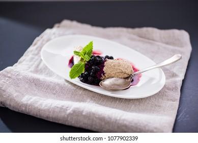ice-cream with fruits