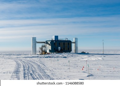 IceCube Neutrino Observatory at the south pole station