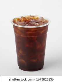 Iced Americano on white background