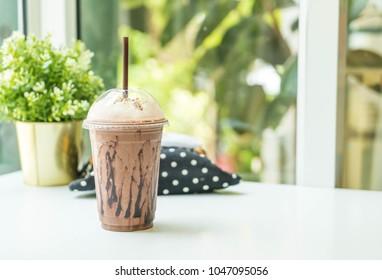 iced chocolate (Milkshake) in restaurant or coffee shop