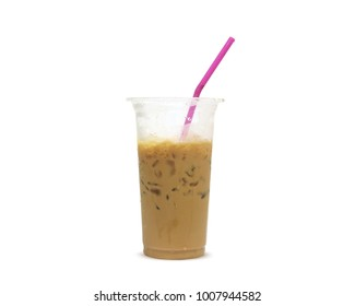iced coffee isolated