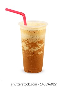 Iced Coffee on white background