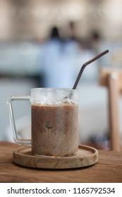 Iced coffee in coffee shop