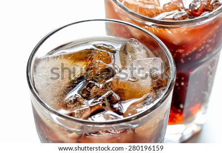 Iced diet cola without