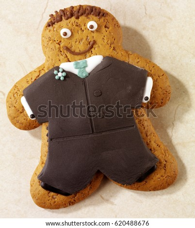 Iced Gingerbread Biscuits Man Bridegroom Stock Photo Edit Now