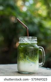 iced matcha green tea