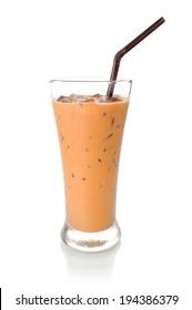 iced milk tea, famous drink in Thailand