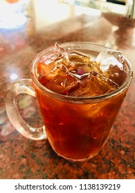 Iced Tea background /  Iced tea is a refreshing beverage that is the most popular in the heat of summer