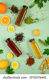iced tea with honey, jasmine and citrus fruits