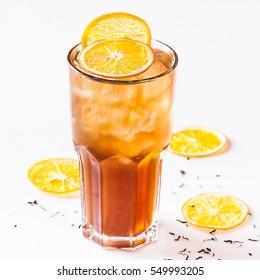 Iced tea with lemon tasty cocktail alcohol