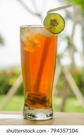 Iced Tea with Lime