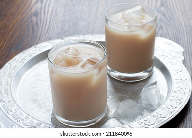 Iced tea with milk and spices