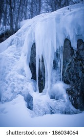 Iced waterfall