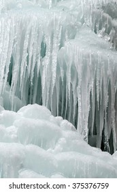 Icefall - frozen Brankovsky waterfall, Slovakia