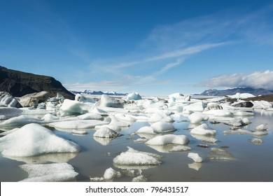 Iceland big glacier jokulsarlon pure nature in golden circle. Ice and snow
