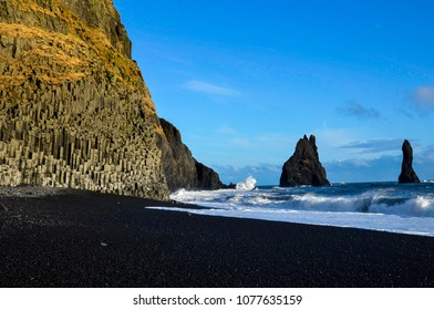 Iceland Black sand beach Reynisfjara