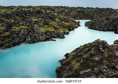 Iceland, Blue lagoon. This natural geothermal spa is one of the most visited tourist attractions in Iceland