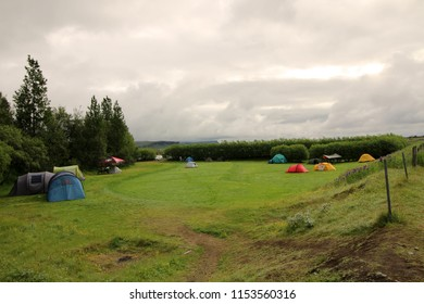 Iceland camping tent