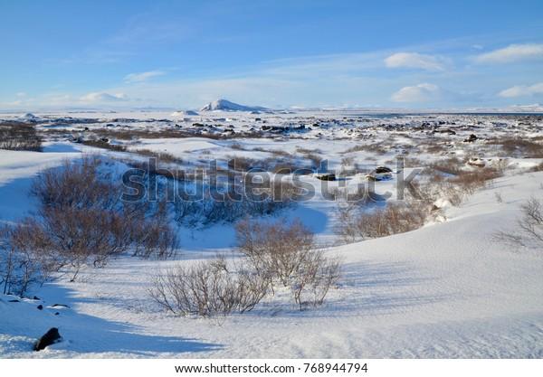 Iceland Dimmuborgir diamond circle winter